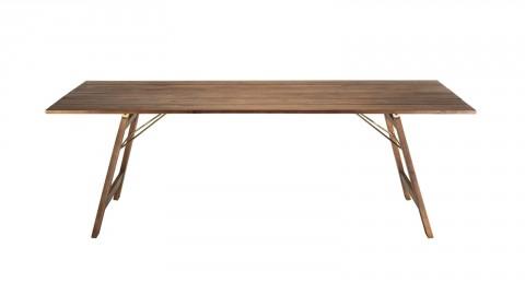 Table de jardin 6/8 personnes rectangulaire pliante 220x90 cm en bois acacia - Vick