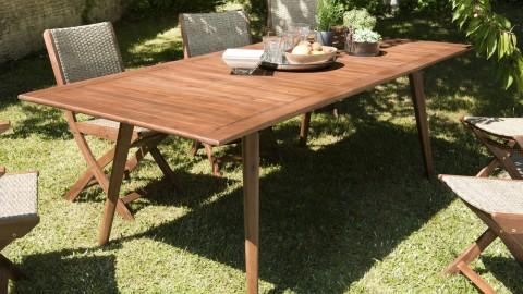 Table de jardin 8 personnes extensible en acacia - Collection Vick