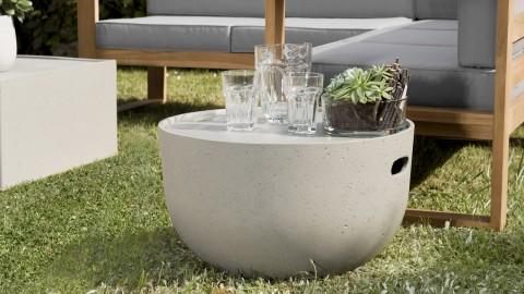 Table basse de jardin ronde 58cm en béton - Victor