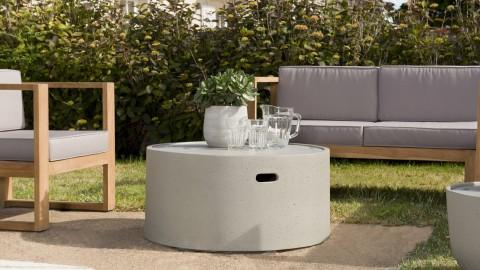 Table basse de jardin ronde 80cm en béton - Victor