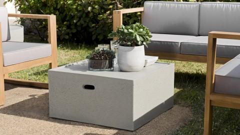 Table basse de jardin carrée en béton - Victor