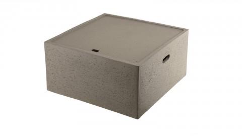 Table basse de jardin carrée en béton - Collection Victor