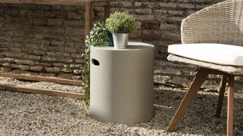 Table d'appoint de jardin ronde 40x40 cm béton - Victor