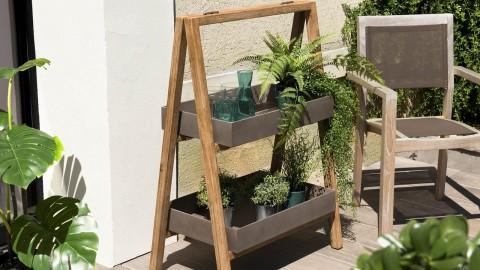 Etagère de jardin effet béton 2 niveaux PM - Collection Victor