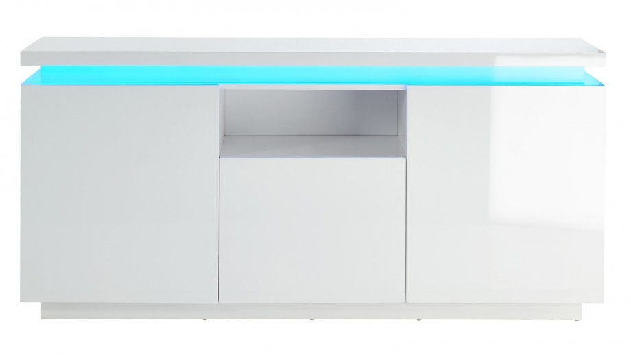 Buffet blanc 160 cm à LED - Collection Cosmos