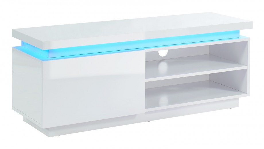 Meuble TV 120 cm à LED - Collection Cosmos