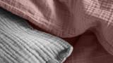 Housse de couette + 2 taies d'oreiller 63x63cm 100% gaze de coton