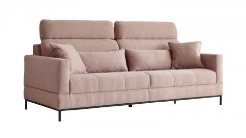Canapé fixe 3 places en tissu vieux rose - Collection Ariell - Cacharel