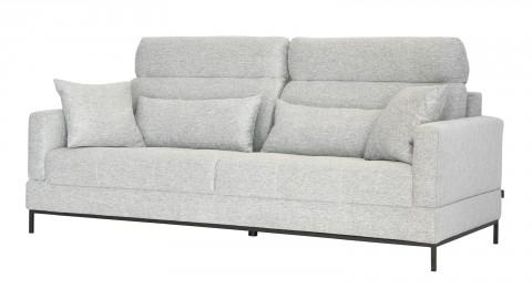 Canapé fixe 3 places en tissu gris clair - Collection Ariell - Cacharel