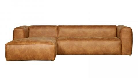 Canapé d'angle gauche en cuir vintage - Collection Bean - Woood