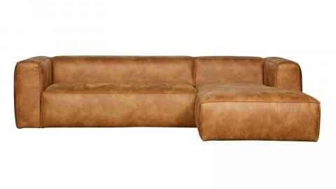 Canapé d'angle droit en cuir vintage - Collection Bean - Woood
