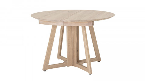 Table à manger ronde extensible en chêne naturel - Collection Owen - Bloomingville