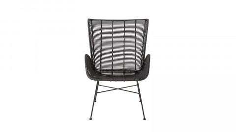 Fauteuil lounge en rotin noir - Collection Erika - Bloomingville