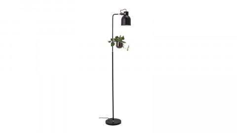 Lampadaire en métal noir avec pot de fleur intégré - Bloomingville
