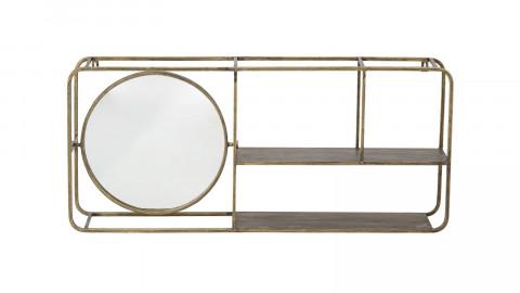 Etagère avec miroir en métal doré - Bloomingville