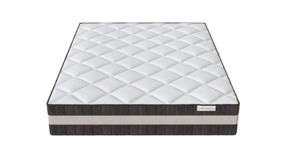 Matelas ressorts ensachés 140x190 Spring Luxe Hbedding - Mousse ergonomique haute densité et ressorts ensachés.