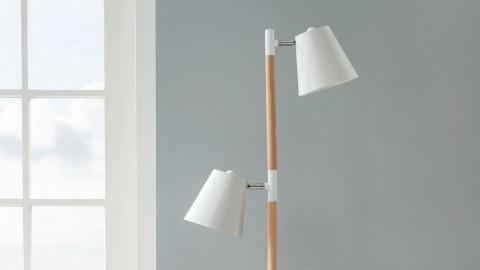 Lampadaire double abat jour blanc - Collection Rubi - Leitmotiv