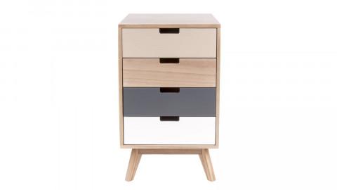 Petit meuble de rangement 4 tiroirs en bois - Collection Snap - Leitmotiv