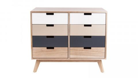 Commode 8 tiroirs en bois - Collection Snap - Leitmotiv