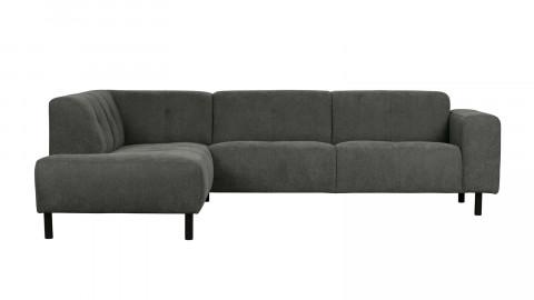 Canapé d'angle gauche 5 places tissu gris - Collection Presley - Woood
