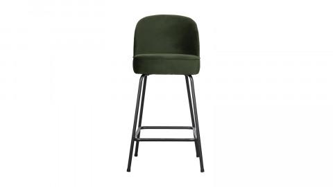 Tabouret de bar 65cm en velours vert - Collection Vogue - BePureHome