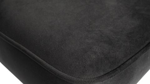 Tabouret de bar 80cm en velours noir - Collection Vogue - BePureHome