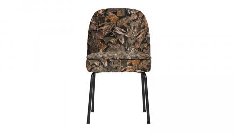 Lot de 2 chaises en velours imprimé floral - Collection Vogue - BePureHome
