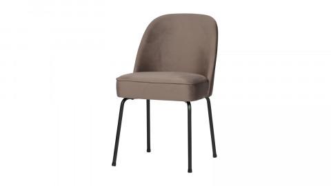 Lot de 2 chaises en velours nougat - Collection Vogue - BePureHome