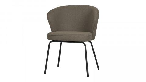 Lot de 2 chaises en velours bouclé nougat - Collection Admit - BePureHome
