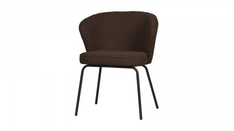 Lot de 2 chaises en velours bouclé café - Collection Admit - BePureHome