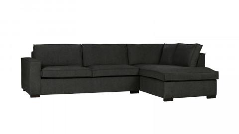 Canapé d'angle droit 5 places en tissu gris foncé - Collection Thomas - Woood