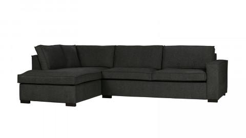 Canapé d'angle gauche 5 places en tissu gris foncé - Collection Thomas - Woood