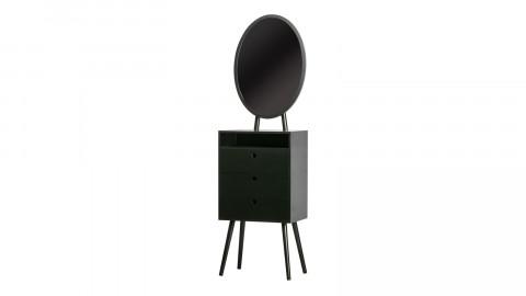 Coiffeuse 3 tiroirs avec miroir en pin noir - Collection Vanity - Woood