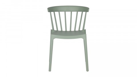 Lot de 2 chaises design en plastique vert - Collection Bliss - Woood