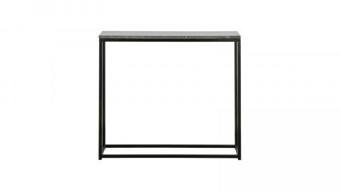 Console en marbre et métal noir - Collection Mellow - BePureHome