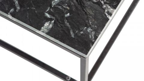 Table basse en marbre et métal noir - Collection Mellow - BePureHome