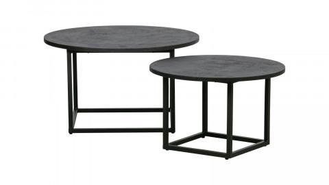 Lot de 2 tables d'appoint en contreplaqué - Collection Enzo - Woood
