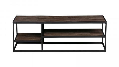 Table basse en teck et métal noir - Collection Vic - Woood