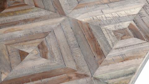 Table basse en teck et métal noir - Collection Rhombic - BePureHome