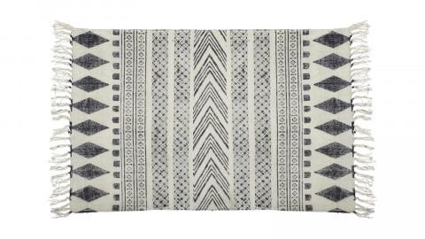 Tapis ethnique gris et noir avec franges 160x230cm - Collection Block - House Doctor