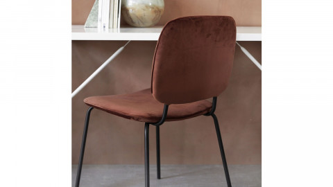 Lot de 2 chaises en velours rouille - Collection Comma - House Doctor