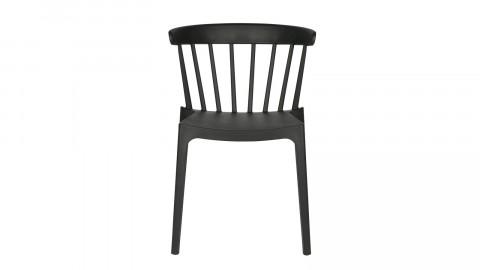 Lot de 2 chaises design en plastique noir - Collection Bliss - Woood
