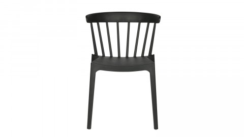 Lot de 2 chaises design en plastique noir - Collection Bliss