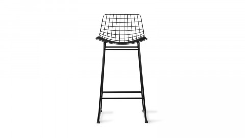 Lot de 2 tabourets de bar en métal noir - Hk Living