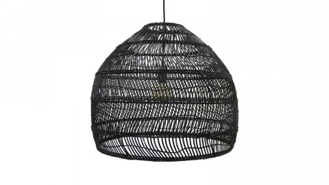 Suspension ronde M en rotin noir - Hk Living