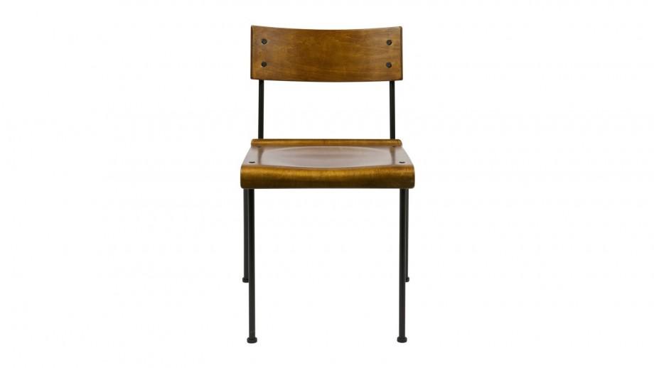 Lot de 2 chaises Teach Naturel
