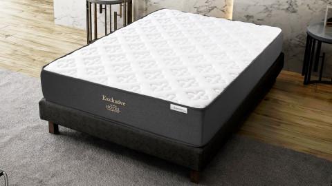 Ensemble matelas mémoire + sommier 160x200 Hôtel 5 étoiles Hbedding - 7 zones de confort + mousse mémoire adaptative.