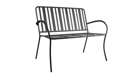 Chaise de jardin en métal noir mat - Collection Lines - Leitmotiv