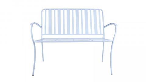 Banc de jardin en métal bleu ciel - Collection Lines - Leitmotiv