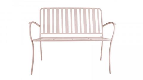 Banc de jardin en métal rose - Collection Lines - Leitmotiv